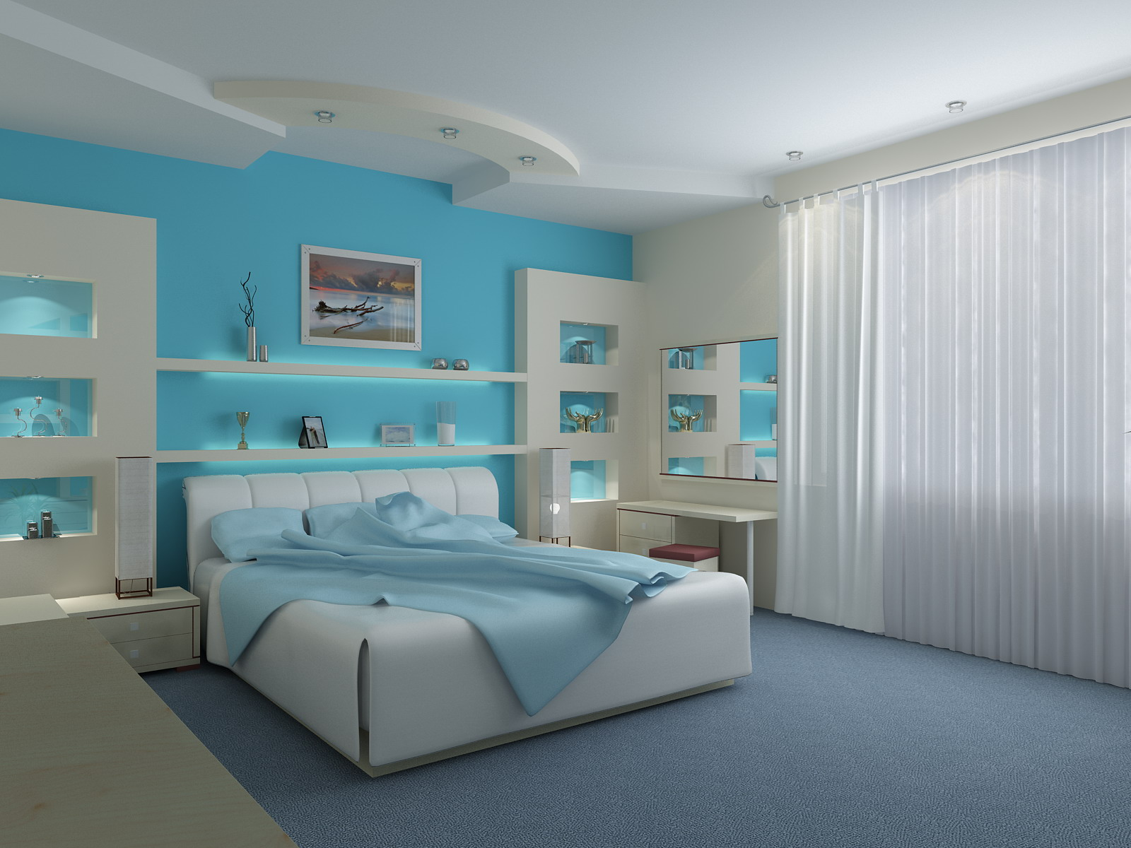 Feng shui bedroom colors for perfect look interior design for Bedroom designs and colors