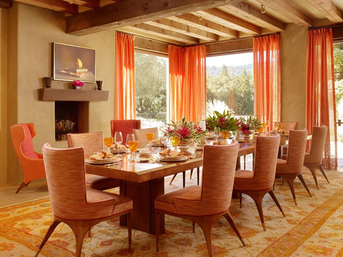 Feng shui color meanings for home design for Large dining room decorating ideas