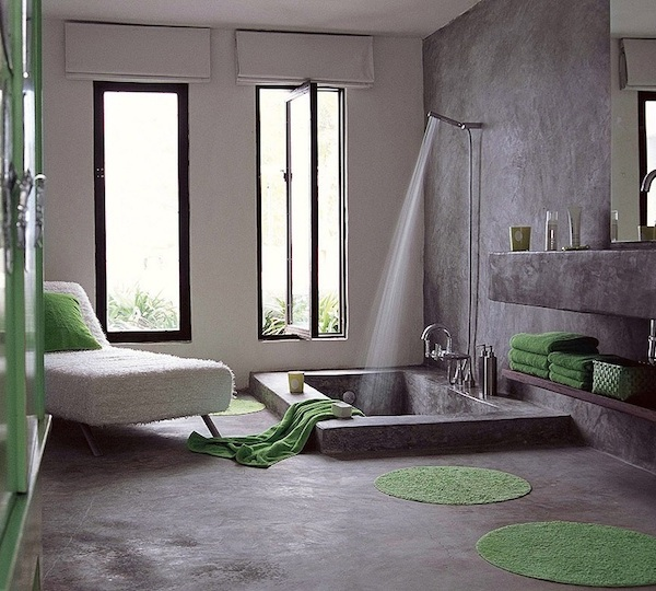 Chambre A Coucher Gris Et Noir : Make all those bottle of shampoos, body washes, conditioners disappear
