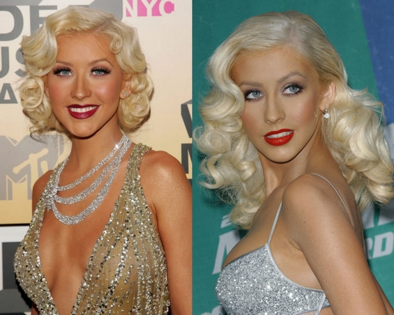Retro fashion style - christina aguilera
