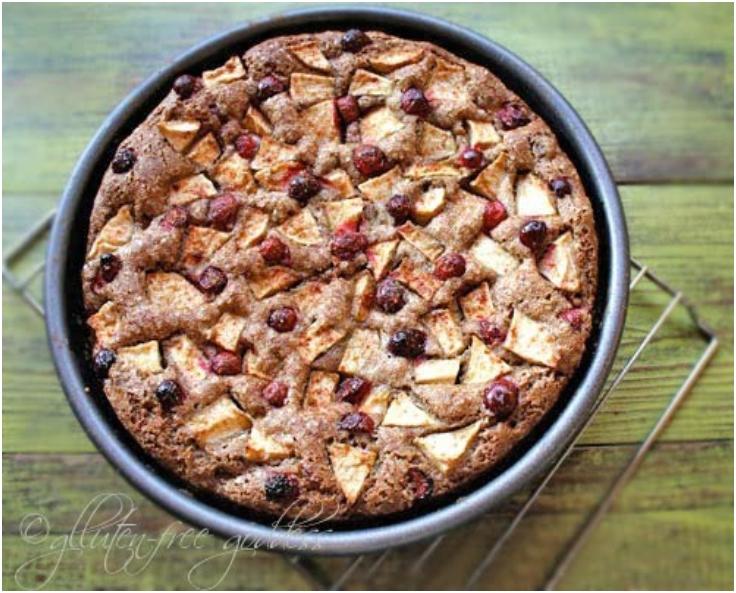 Apple Cake Recipe with Cranberries
