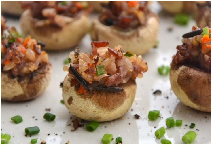 CASHEW-STUFFED MUSHROOMS