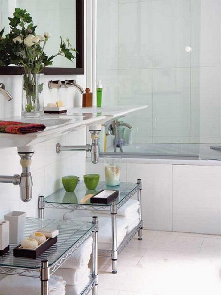 Creative storage idea for a small bathroom modern world for Bathroom organization ideas