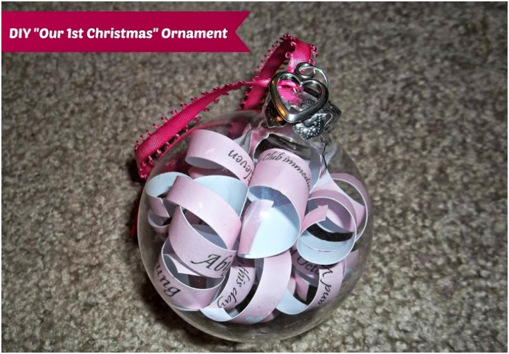 DIY Our First Christmas Ornament