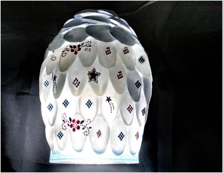 DIY SPOON LAMP SHADE