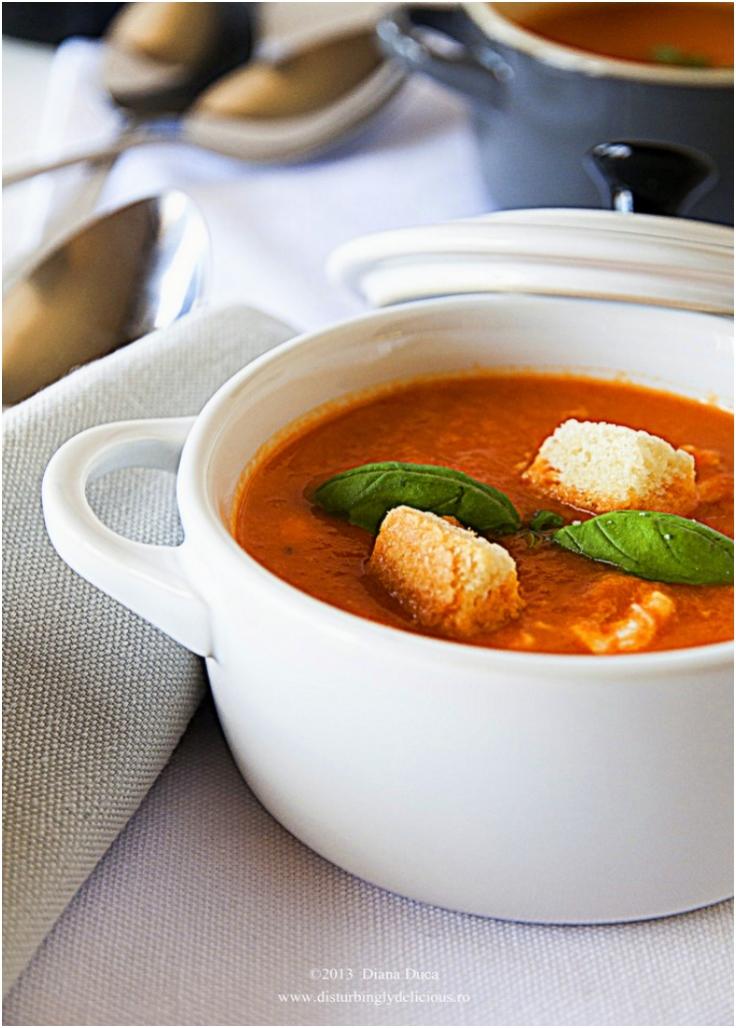 Roasted Red Capsicum Cream Soup