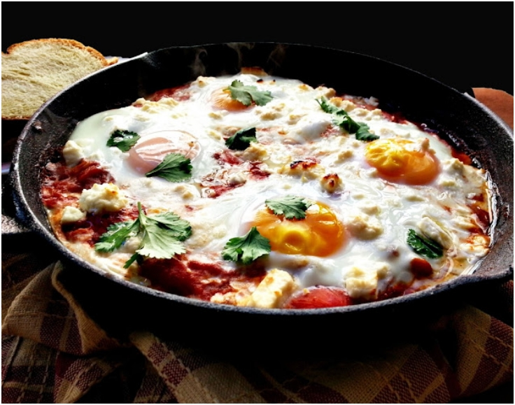 Shakshouka with feta
