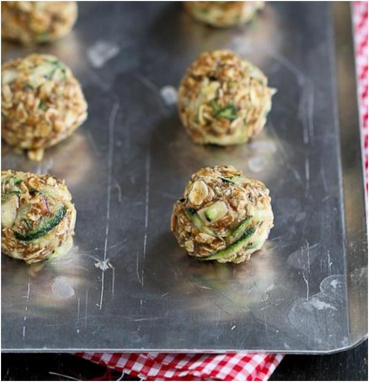 Zucchini-Granola-Bites