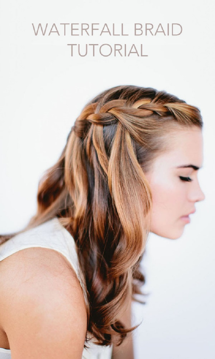 Lovely Dinner Party Hairstyles Part - 10: DIY Waterfall For Long Hair