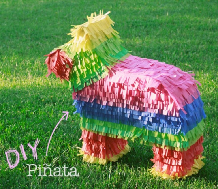 7 diy pinata party. Black Bedroom Furniture Sets. Home Design Ideas