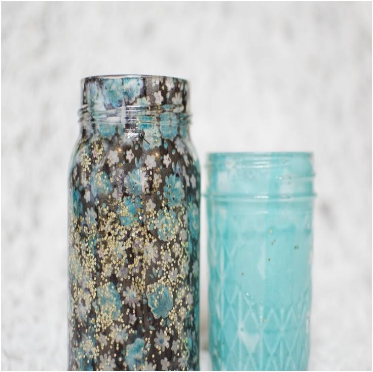 fabric jar luminary diy