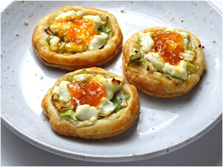 Sweet, Tart and Savory: Goat Cheese Tarts with Leeks and Apricot ...