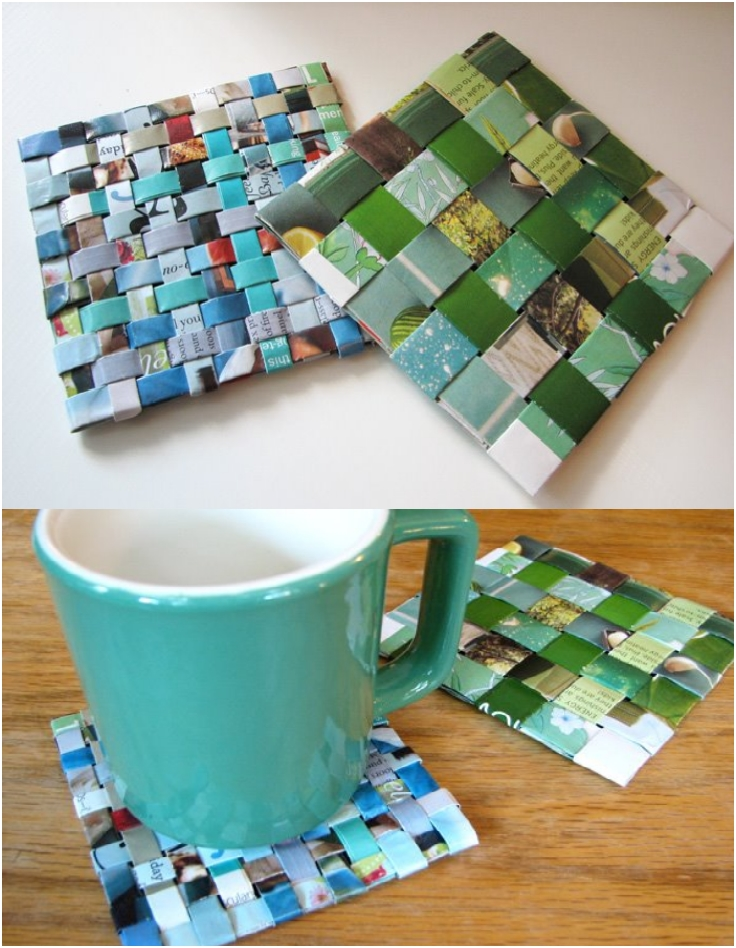 7 unique diy coaster ideas for Homemade coaster ideas