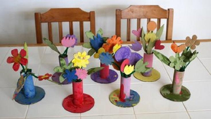 Сделать вазу своими руками для детского сада 40