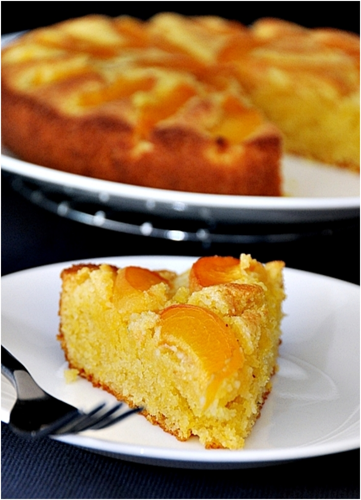 Apricot & Lime Polenta Cake