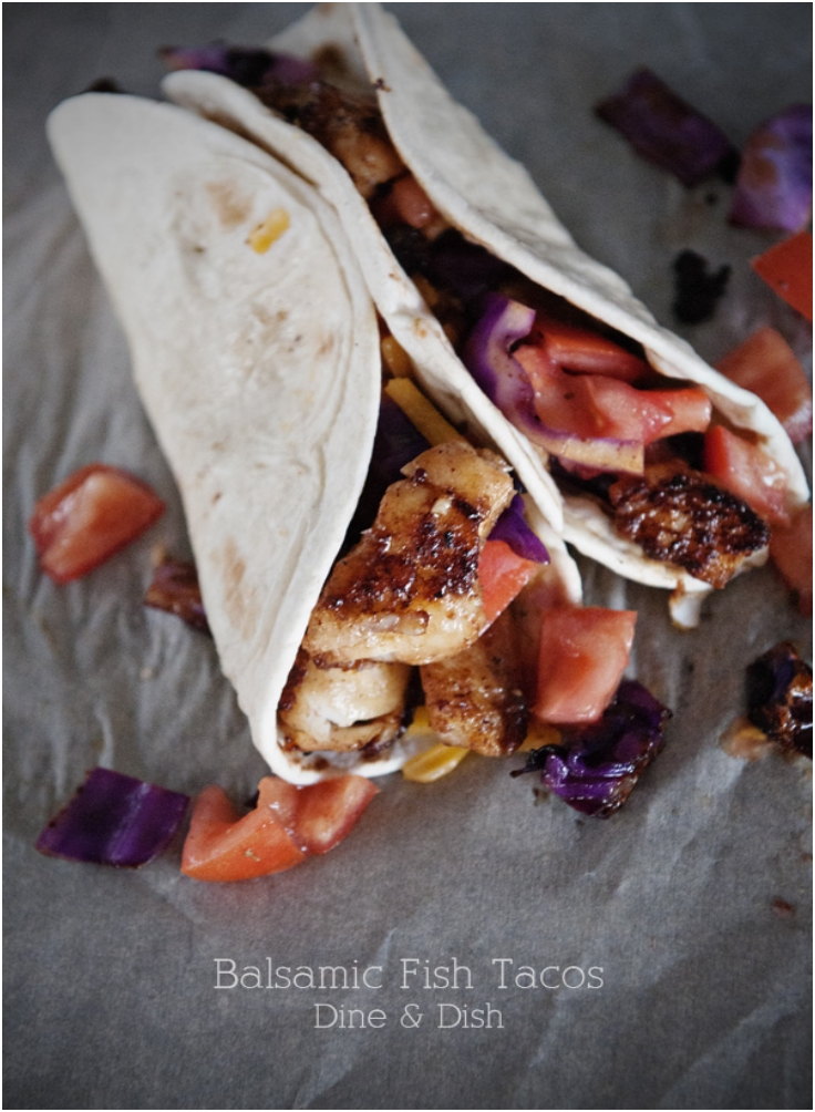 Balsamic Fish Tacos