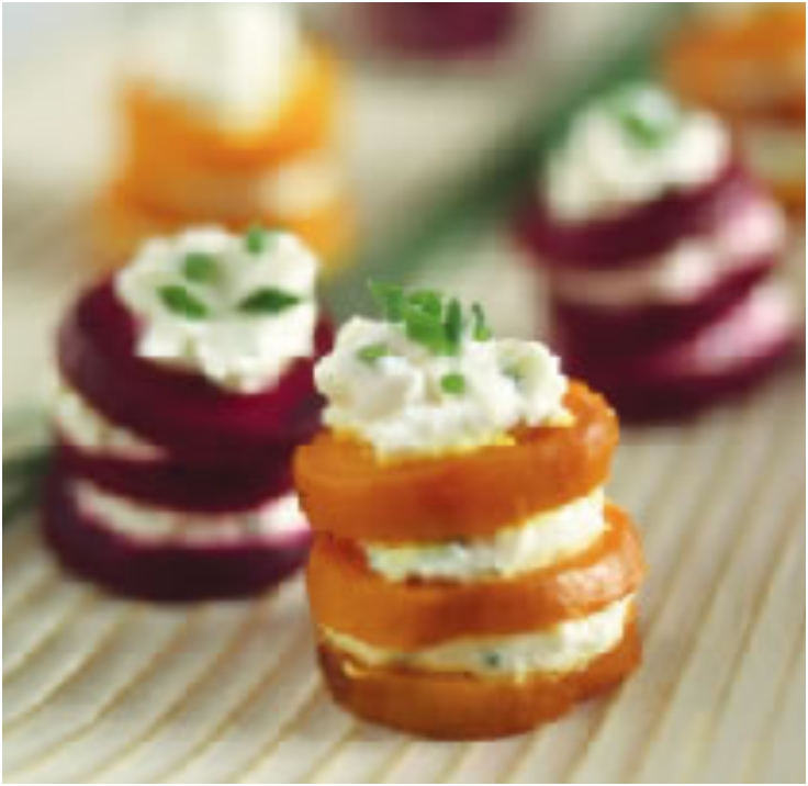 Beet and Goat Cheese Napoleon