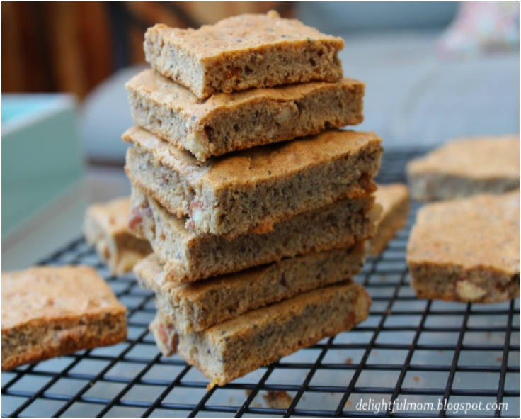CHEWY ALMOND BUTTER CHIA SEED BARS