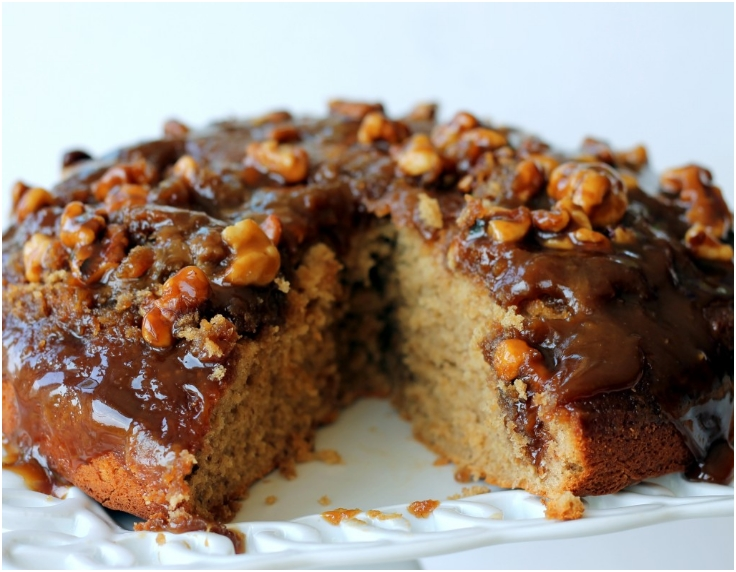 banana cake upside down banana coffee tart caramel walnut upside down ...