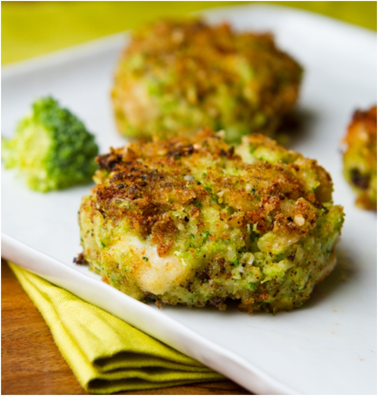 Cheezy Broccoli Fritters
