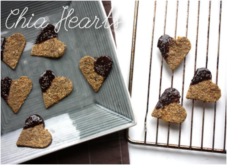 Chia heart Cookies!