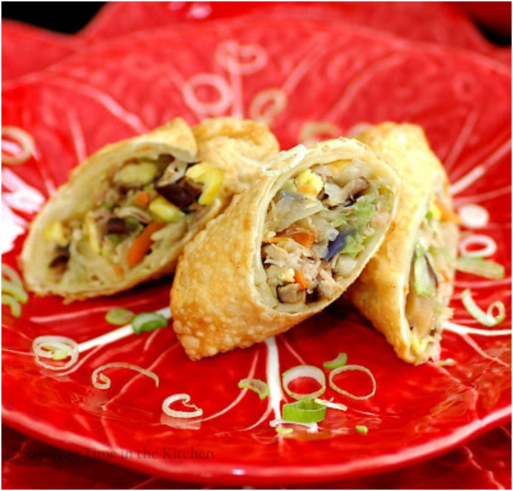 Chinese Egg Rolls for The Year of the Snake