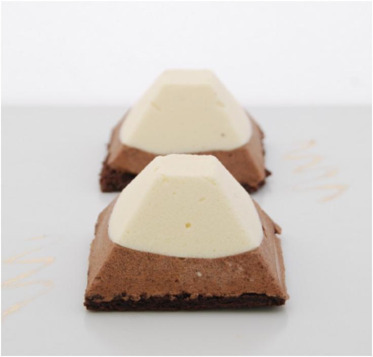 Chocolate Coffee Mousse Pyramids