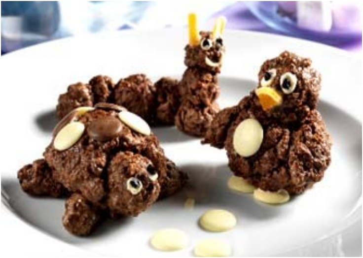 Chocolate cereal animals