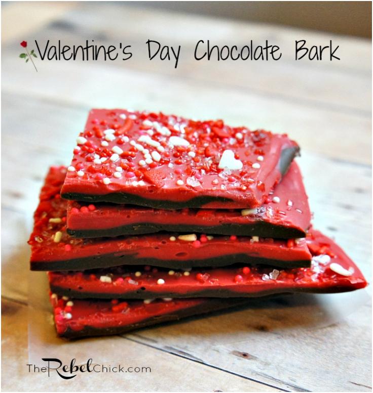 Easy Valentines Day Chocolate Bark Recipe