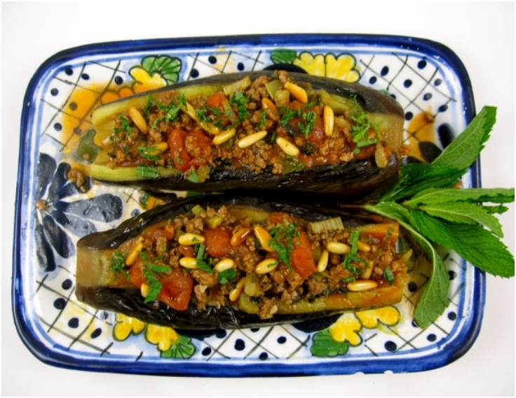 Eggplant Stuffed with Lamb