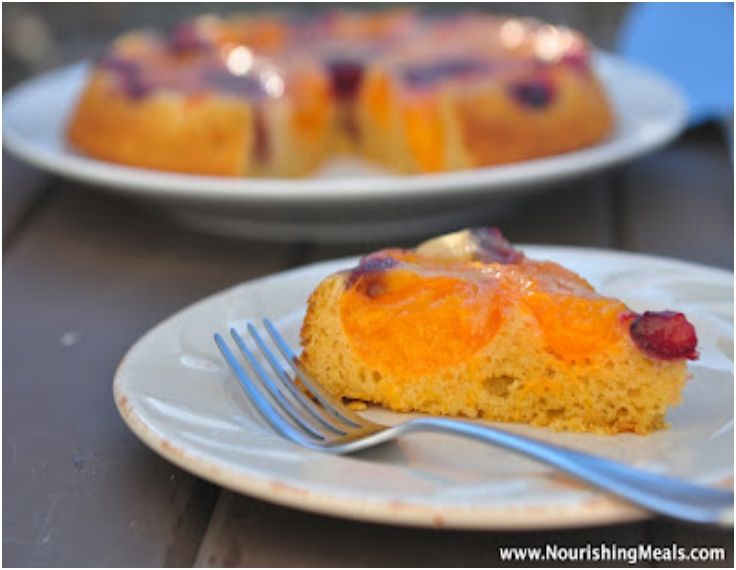 Gluten-Free Apricot-Cherry Upside Down Cake2