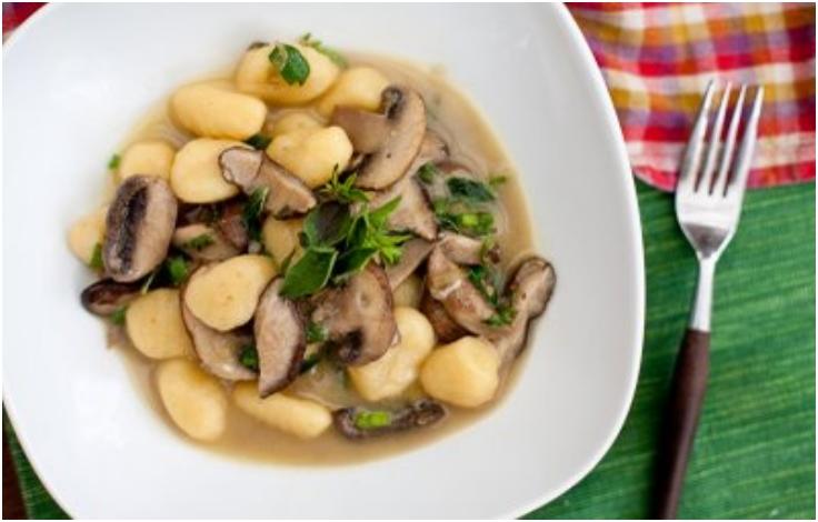 Gnocchi with Mushrooms & Marjoram