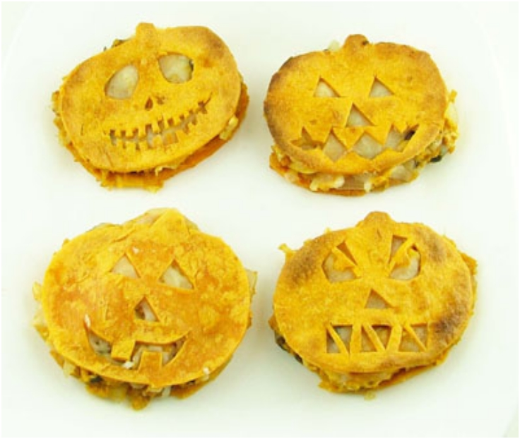 Halloween Pumpkin Quesadillas