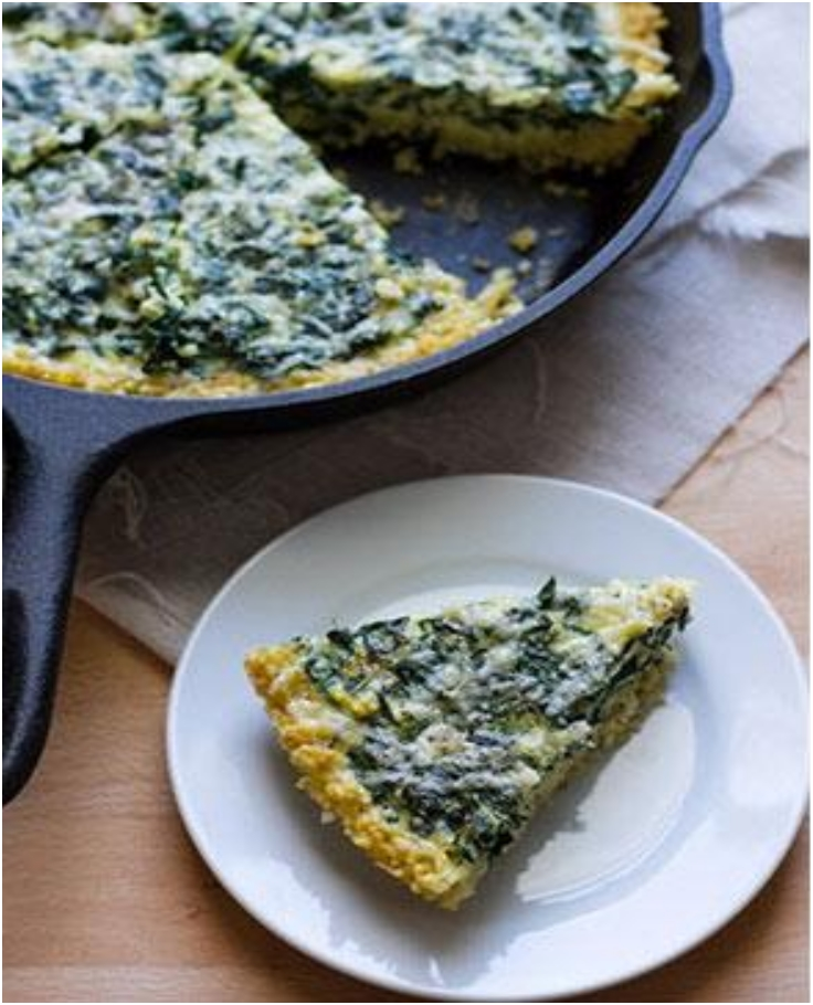 Kale Frittata with Millet Crust1