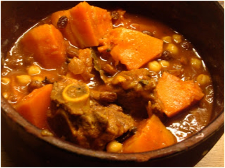 Lamb, Pumpkin and Chickpea Stew with Raisins
