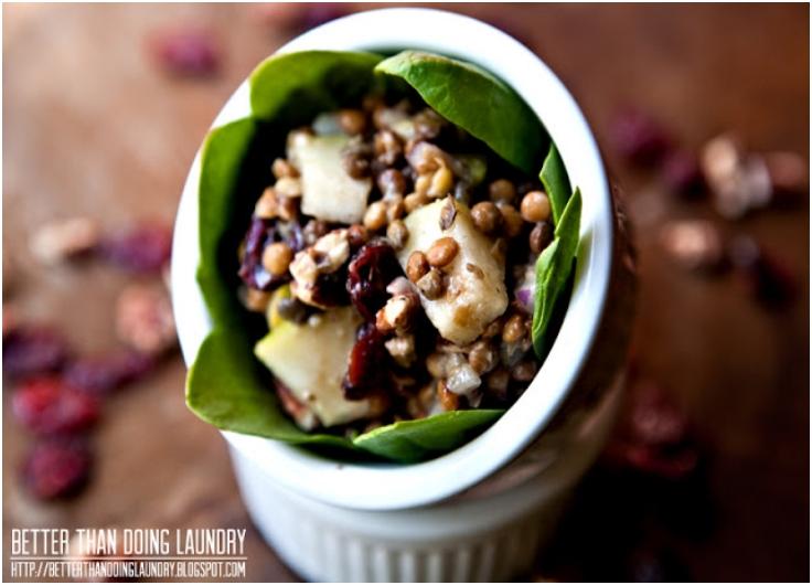 Maple Pear Lentil Salad