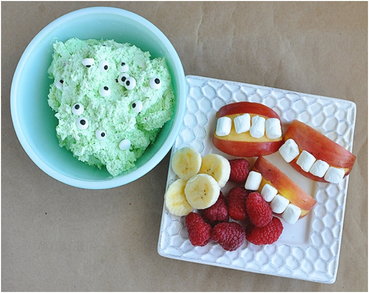 Monster Fruit Dip with Mouthy Apples