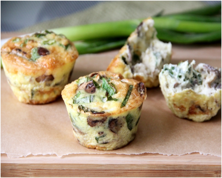 Kale And Goat Cheese Frittata Cups Recipes — Dishmaps