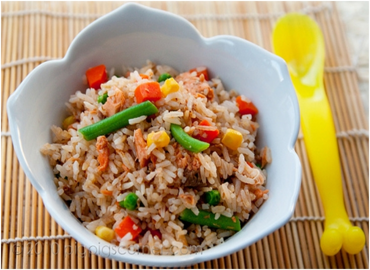 One Pot Rice with Salmon