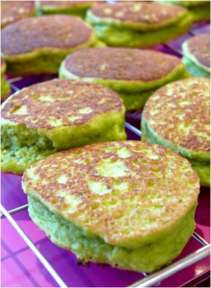 Pesto Pea Pikelets for Ghouls and Goblins to Gobble