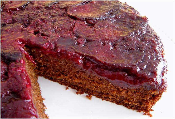 Plum Ginger Upside-Down Cake