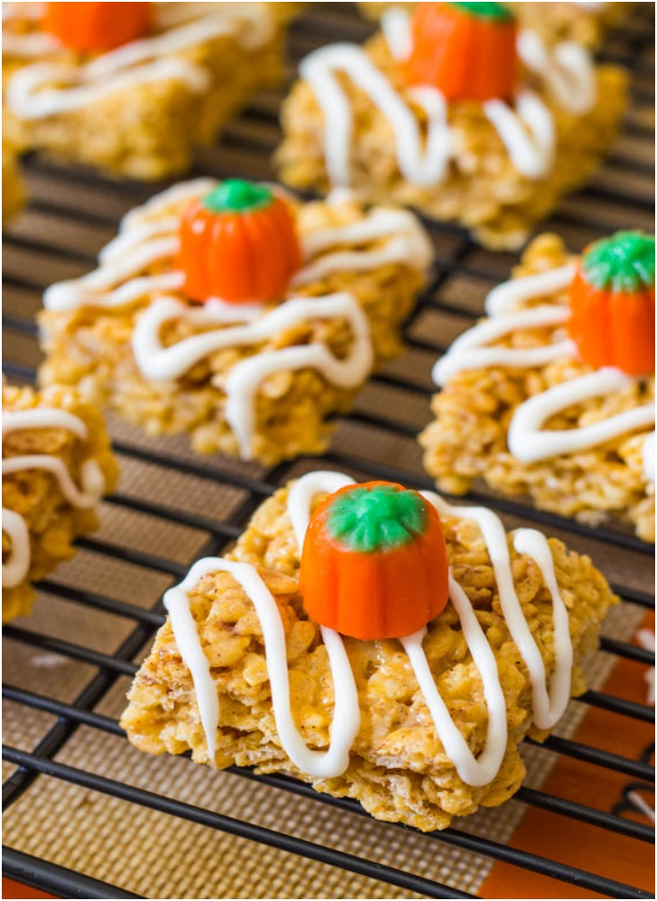 Pumpkin Pie Rice Krispie Treats