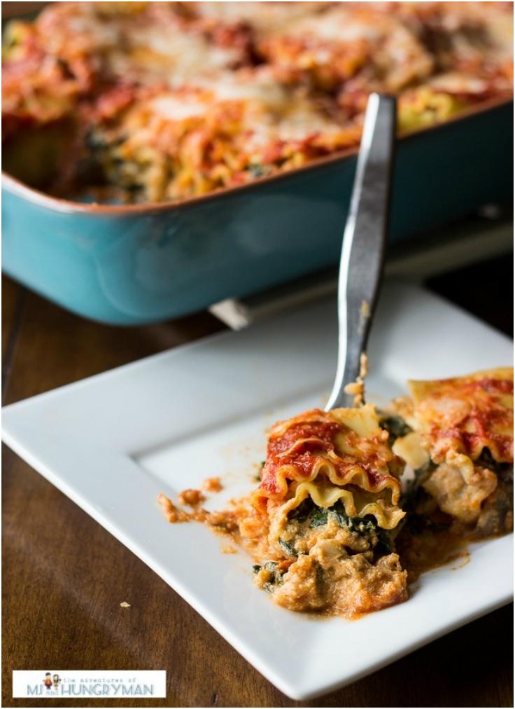 Pumpkin and Kale Lasagna Roll-Ups