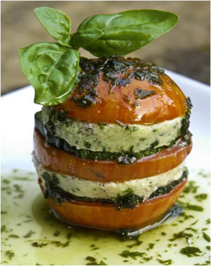 Raw Tomato Napoleon Recipe