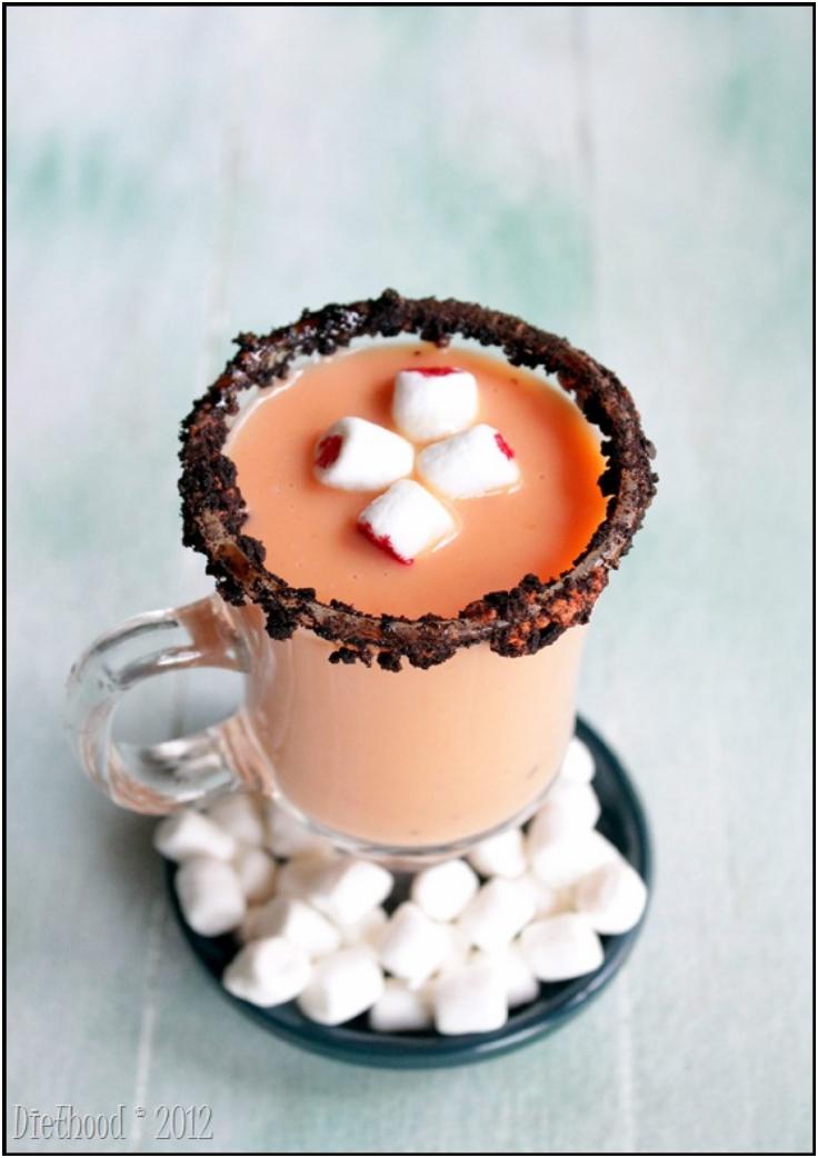 Spiked Pumpkin Pie White Hot Chocolate