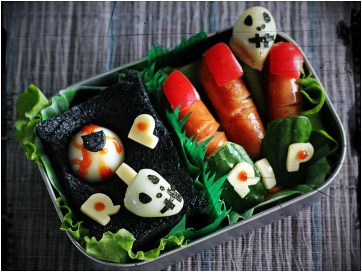 Spooky bento recipe