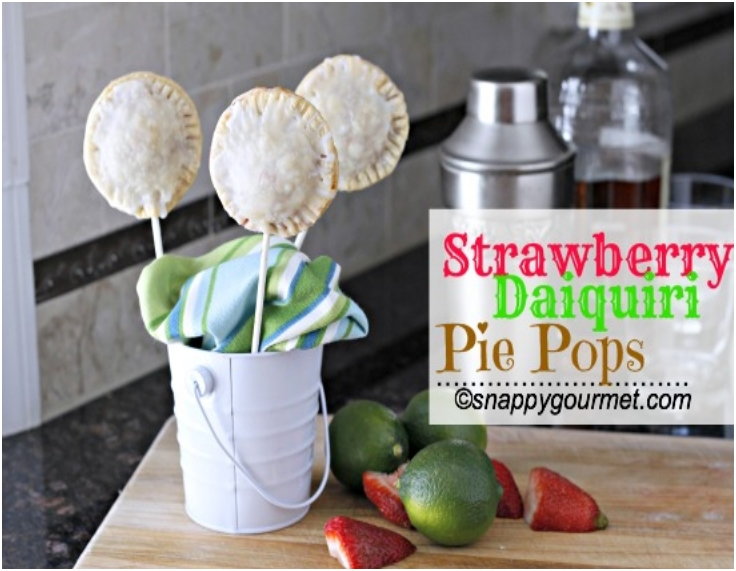 Strawberry Daiquiri Pie Pops