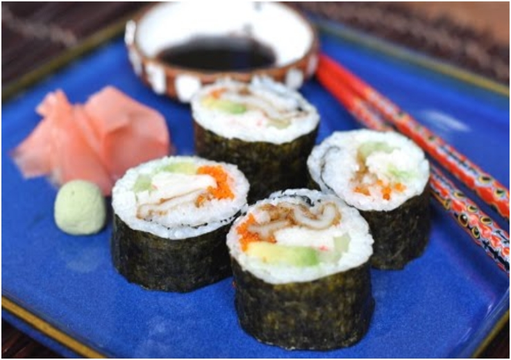 Tempura Razor Clam Sushi