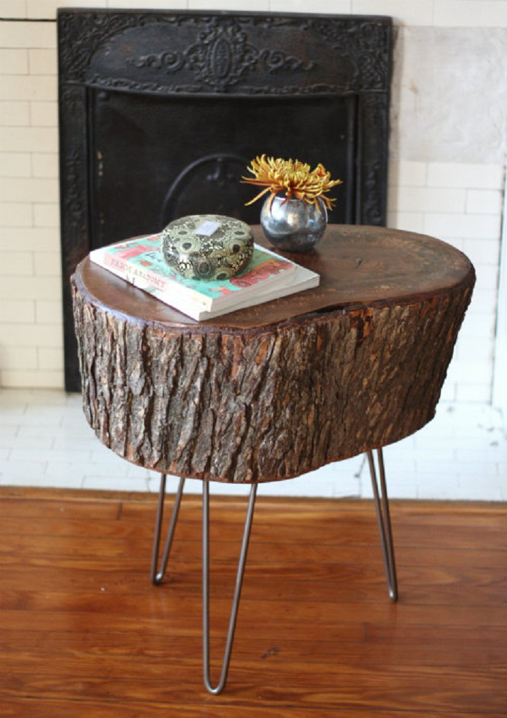 7 amazing diy log ideas Table making ideas