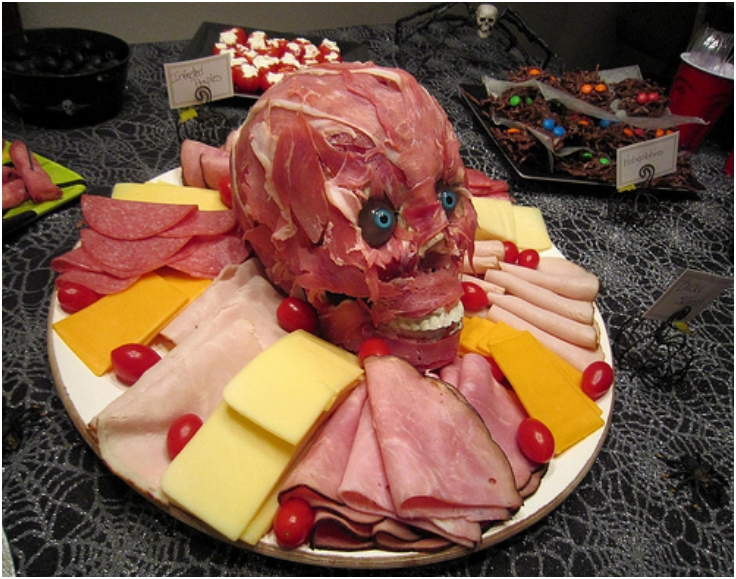 Ultra Creepy Halloween Meat Head